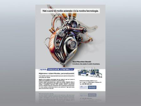 Pagina pubblicitaria per Rossi Macchine Utensili