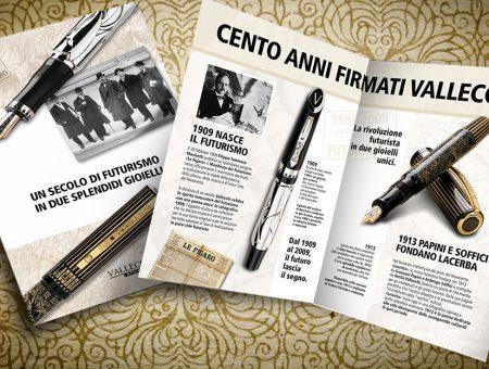 Brochure per penna stilografica Vallecchi